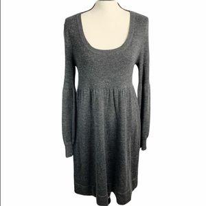 Calvin Klein ribbed gray sweater dress medium
